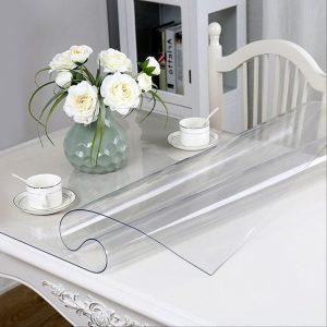 Гибкое стекло, прозрачная скатерть. Ширина 80см, толщина 1,2мм